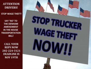 stop trucker wage theft