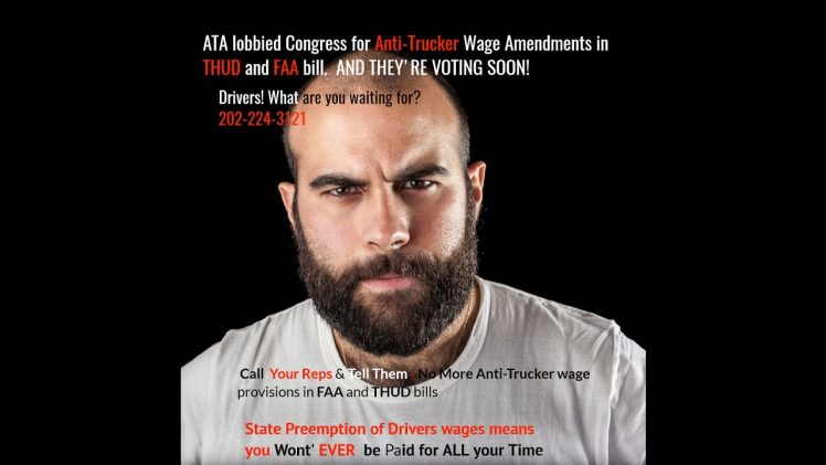 Stop Trucking Industry Wage Theft -Say No to Federal Preemption Anti-Trucker Wage Amendments