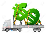Dollar Sign and Truck
